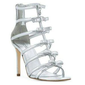 🆕 Michael Kors Veronica Caged Heels Metallic 10